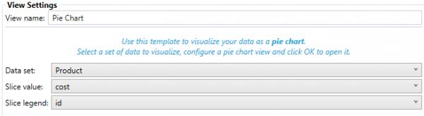 Pie Chart View Settings
